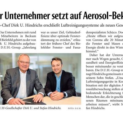 Unser neues Lösungsportfolio setzt auf Aerosol-Bekämpfung