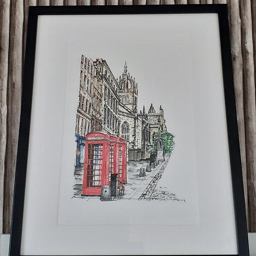 Royal Mile Telephone Boxes
