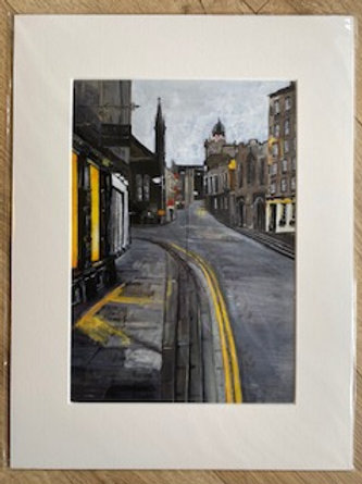 Yellow Lines, Royal Mile. Edinburgh