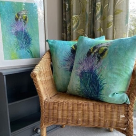Thistle Bee Cushions