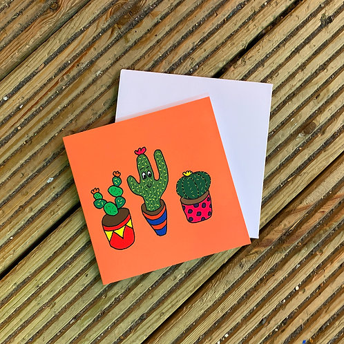 Cactus Friends Card