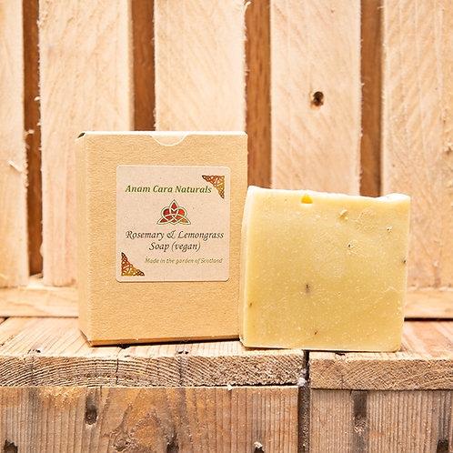 Rosemary & Lemongrass Soap Bar (7.5 x 6.5 cm)