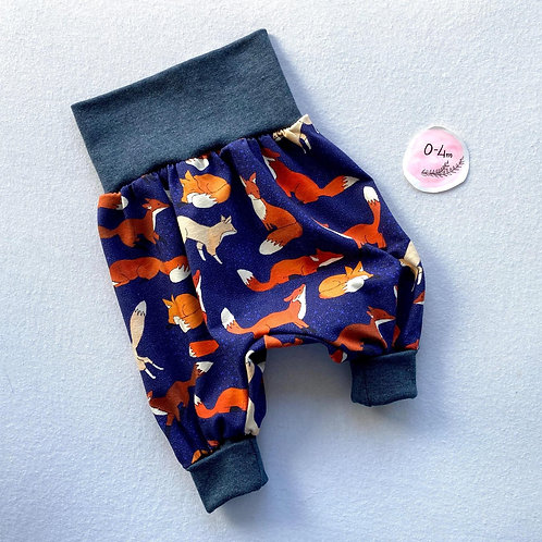 """Grow with me"" Harem pants (0-4 months)"