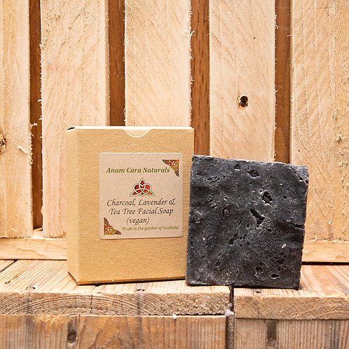 Charcoal & Clay Soap Bar (7.5 x 6.5 cm)