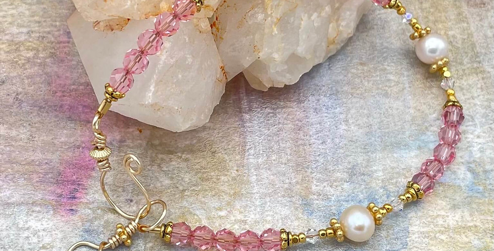 Pearl Rose Channel Bracelet
