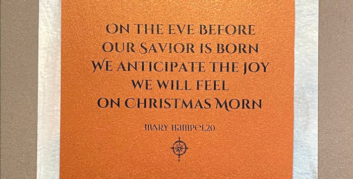 Quote Notes® On The Eve Before Our Savior Is Born