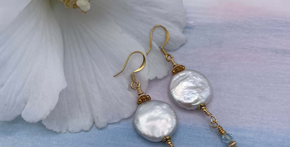 Pearl Moon Earrings