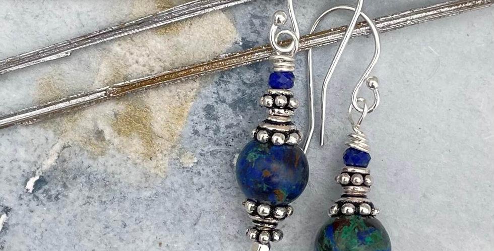 Azurite Evening Light Earrings