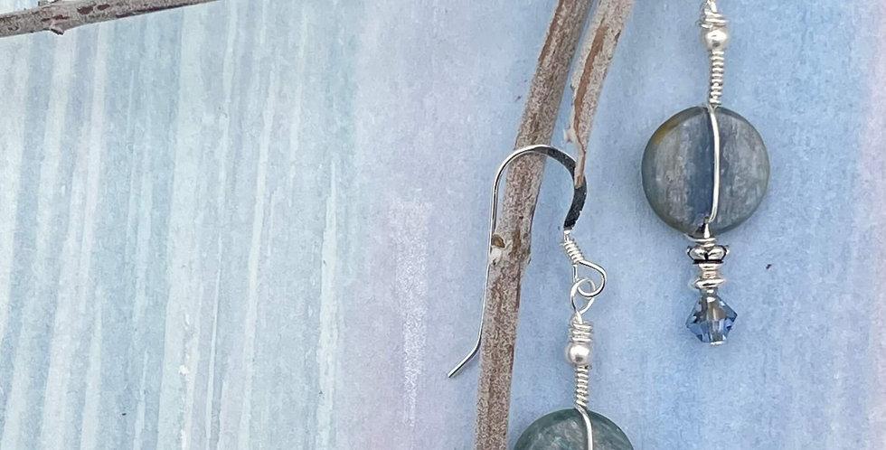 Blue Kyanite Align in Time Earrings