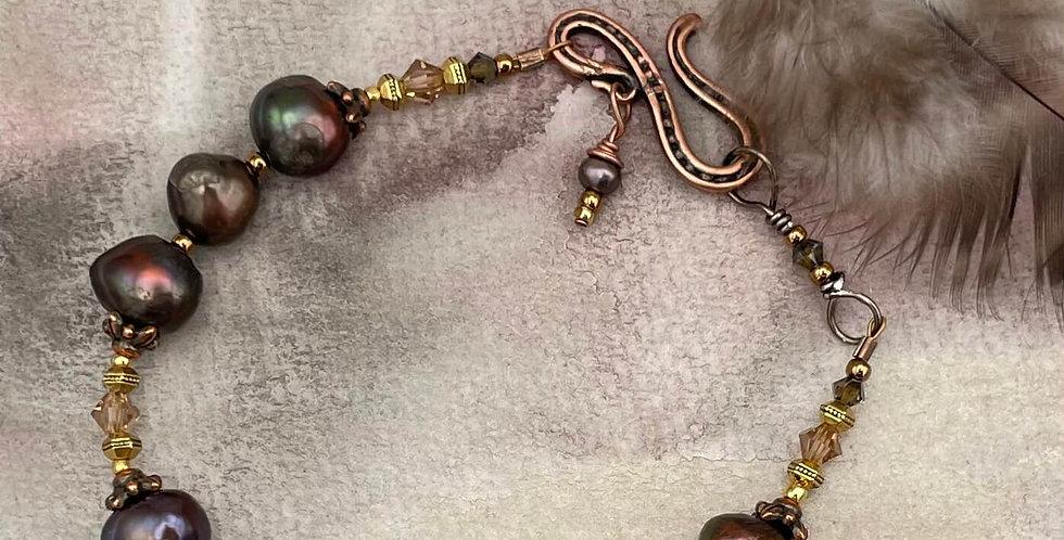Pearl Warm Bronze Bracelet