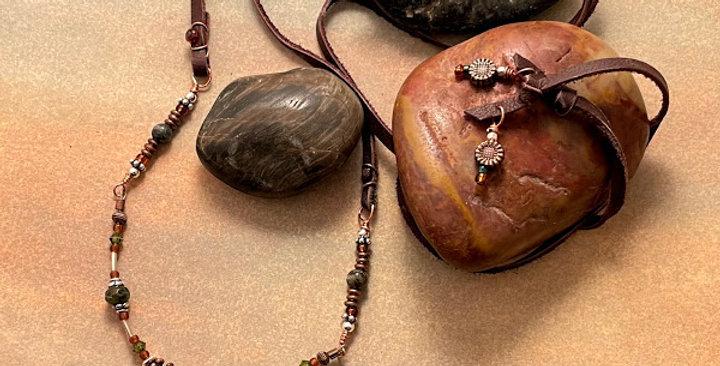 Dragon Blood Jasper Prosperity Necklace