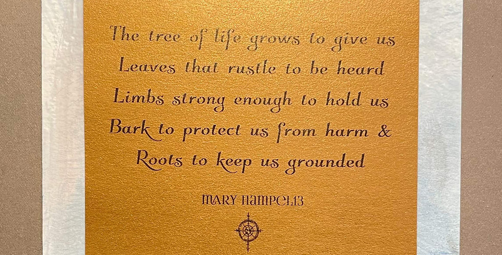 Quote Notes® The Tree of Life Grows to Give