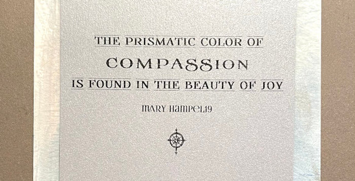 Quote Notes® Prismatic Color Of Compassion