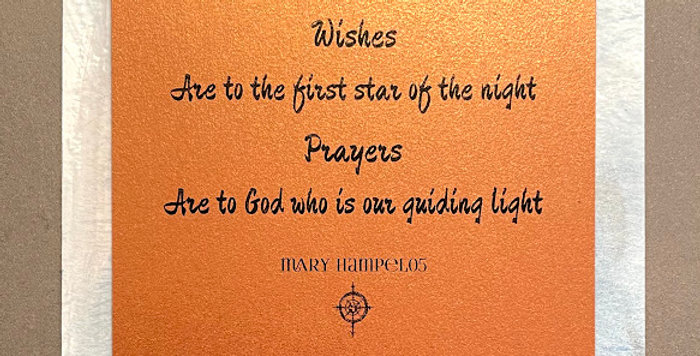 Quote Notes® Wishes Are To The First Star