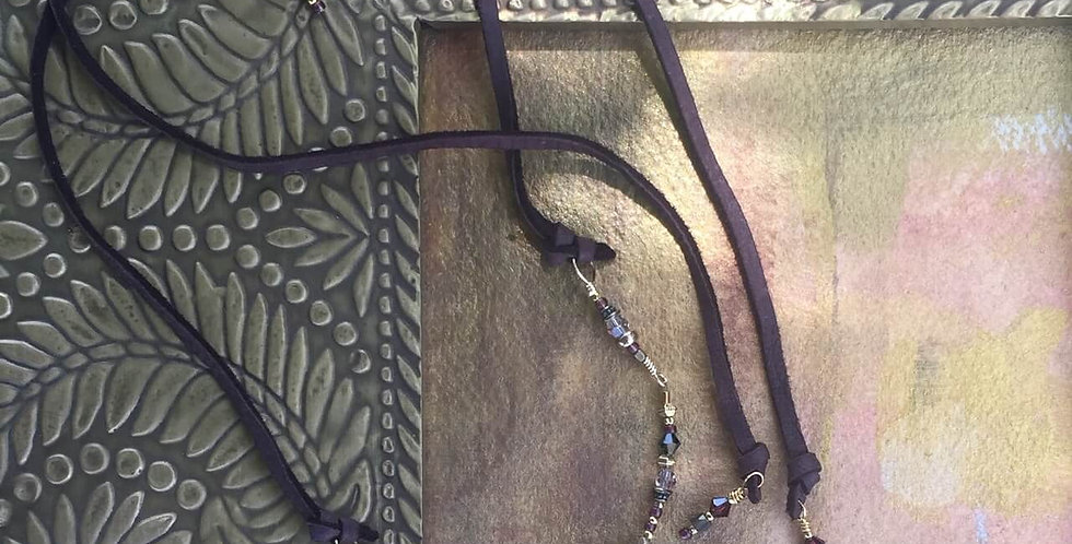 Gold Obsidian Warrior Necklace