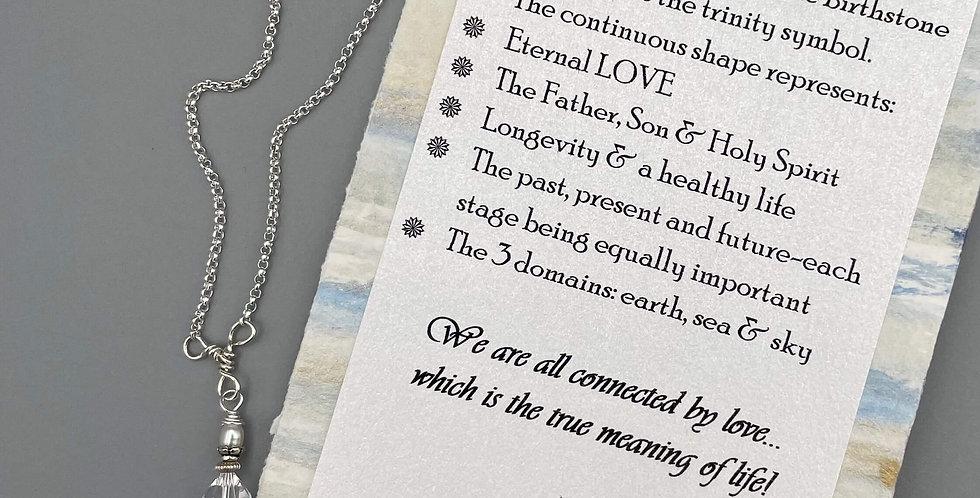 Crystal Circle of Life Trinity Birthstone Bracelet