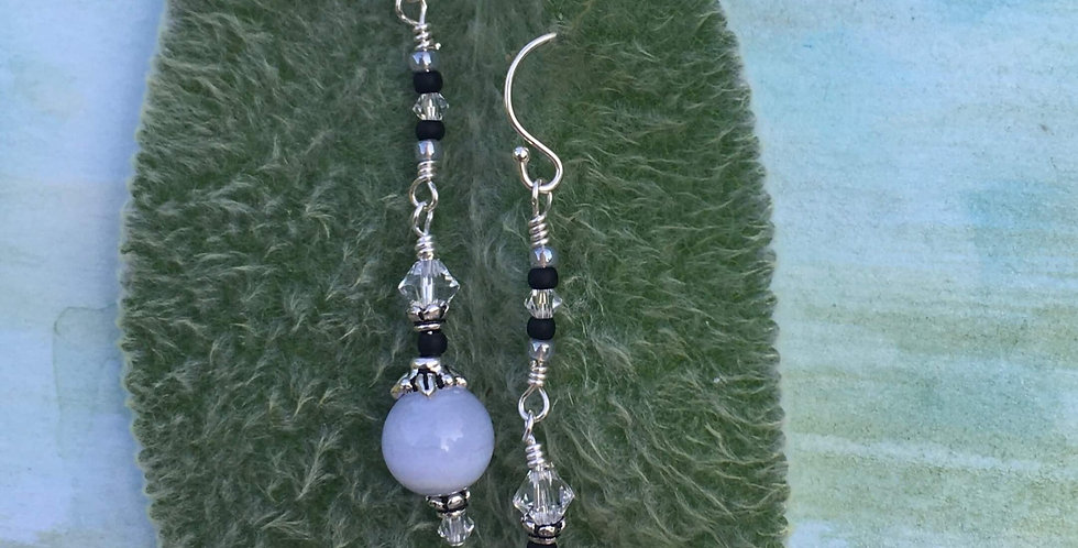 Chalcedony Balance Earrings