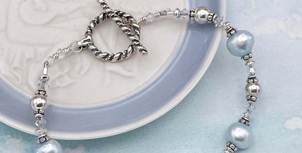 Chalcedony and Pearl Serene Bracelet