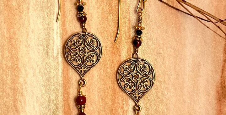 Garnet Romantic Earrings