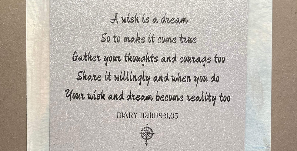 Quote Notes® A Wish is a Dream