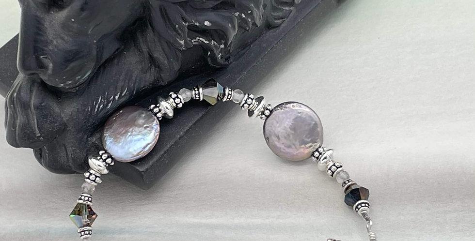 Pearl and Labradorite Fortitude Bracelet