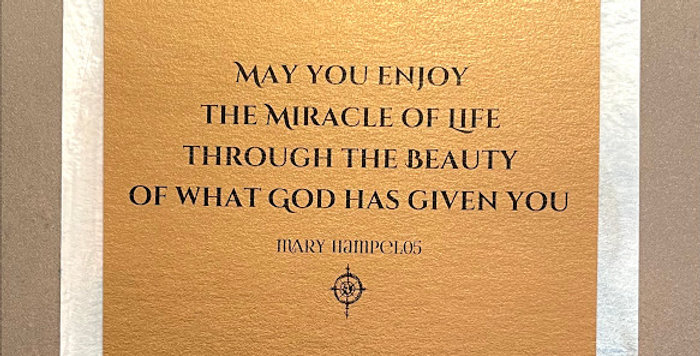 Quote Notes® May You Enjoy the Miracle of Life