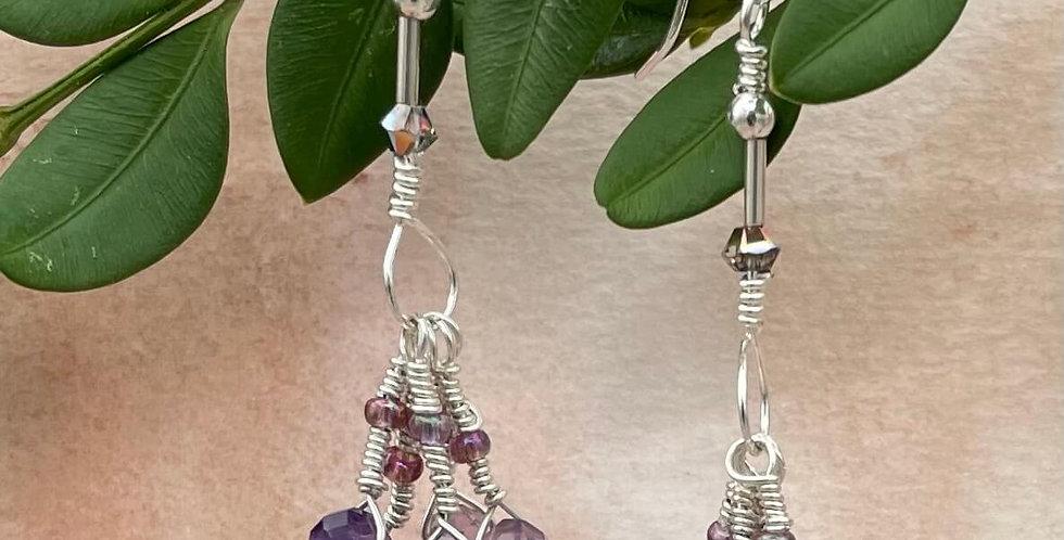Amethyst Ohm-bre Earrings