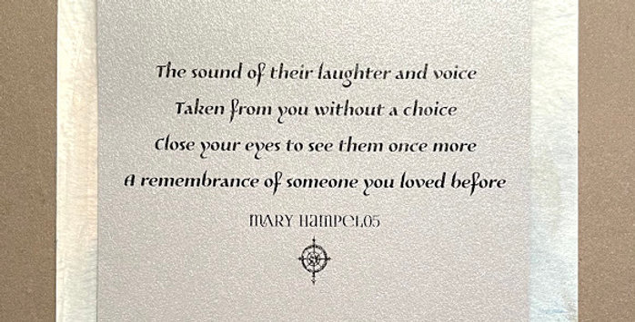 Quote Notes® The Sound Of Their Laughter