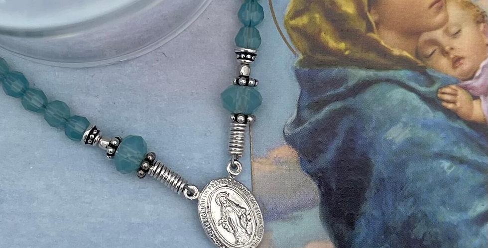 Pacific Opal Swarovski Crystal Rosary Bracelet