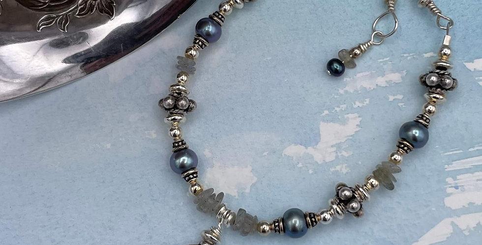 Pearl and Labradorite Shoreline Bracelet
