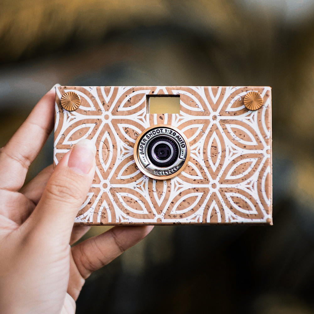 world leading eco-friendly camera: paper shoot, Camera cover made with Cork - sustainable material, Vietnam
