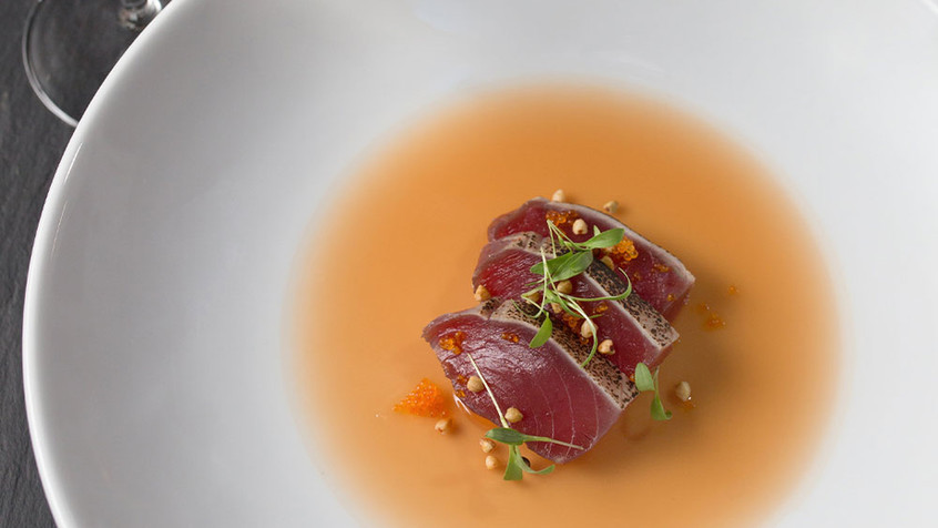 Flamed Tuna Tataki