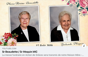 The Eucharist for Sr. Yolande Moquin and Sr. Marie Therese