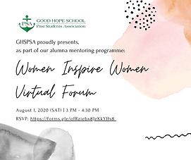 GHSPSA Presents: Women Inspire Women Virtual Forum