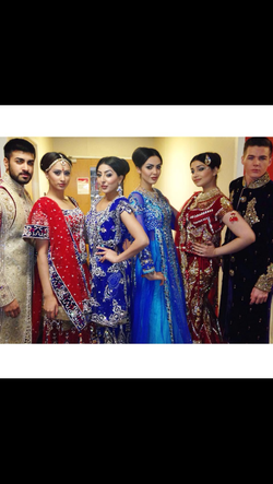 Beauty beneath salon created hair & makeup for the catwalk show at the asian wed