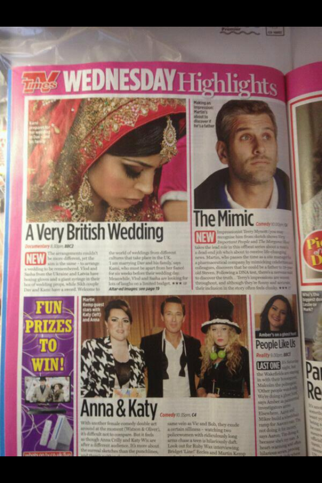 Made over the beautiful bride Sheenam who appeared on the TV series A Very Briti