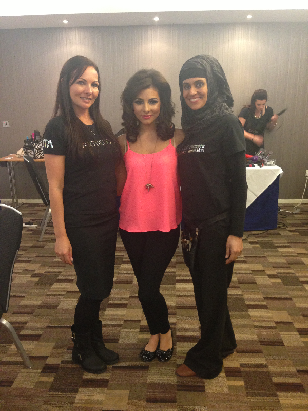 The lovely Roxanne palette at the Macmillan cancer awareness event Manchester_ed