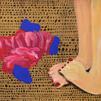 2. Finding my feet, 2018, acrylic, marke