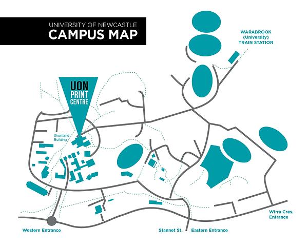 Newcastle University Map