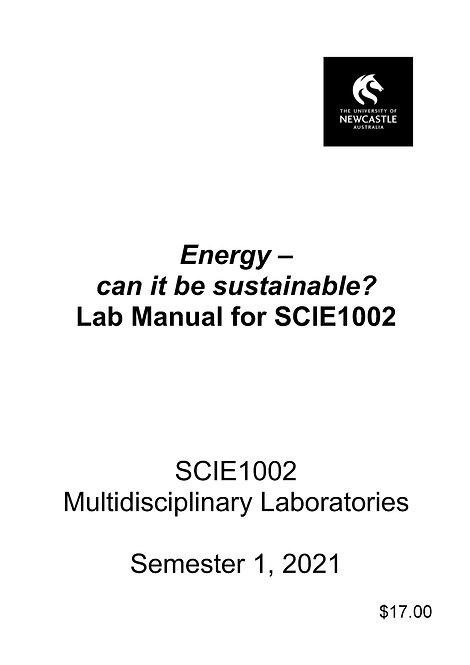 SCIE1002 - Energy