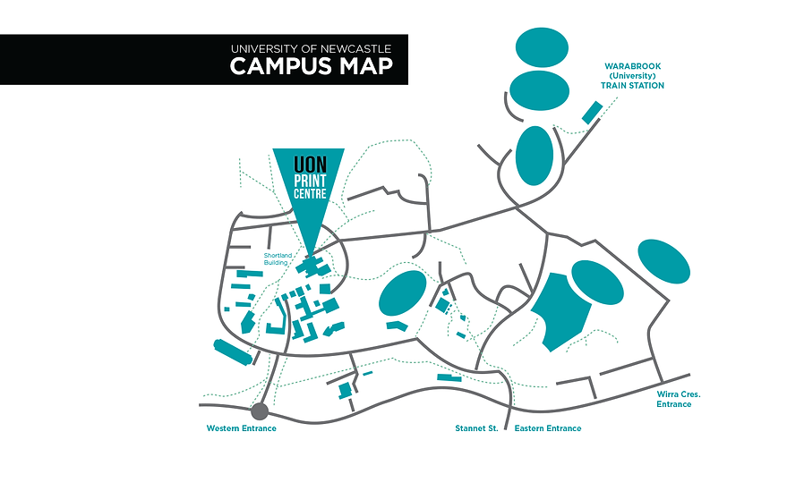 Newcastle University Map