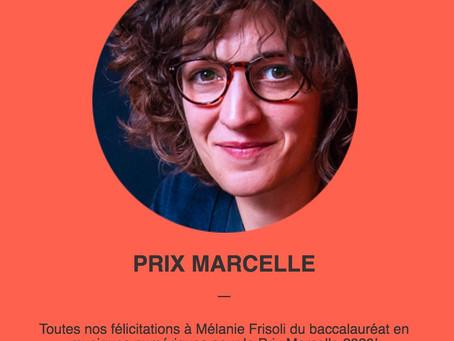 Prix Marcelle 2020 !