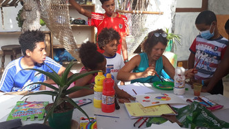 Colours and book with Projeto Educarte