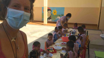 Painting in a kindergarten of Tarrafal