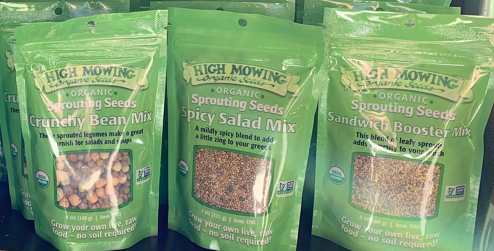 High Mowing Sprouting Seeds