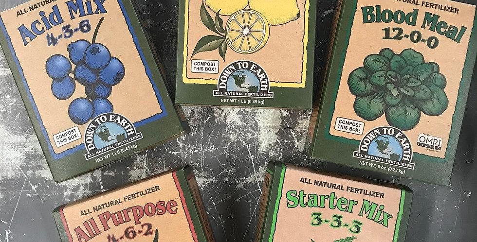 Down to Earth Mini Fertilizers