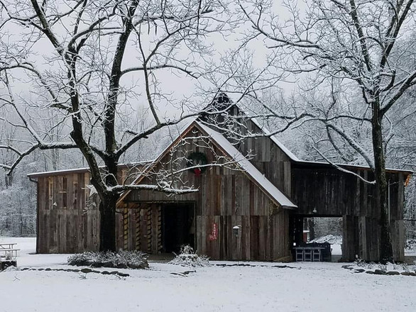 Foothills Farm in the snow