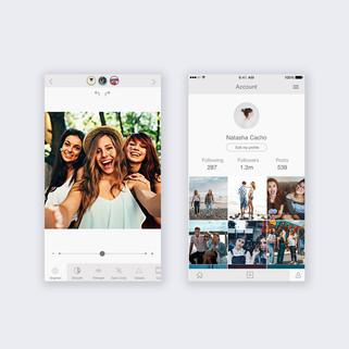 UI design-photo editing app