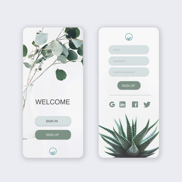 Sign up page UI design