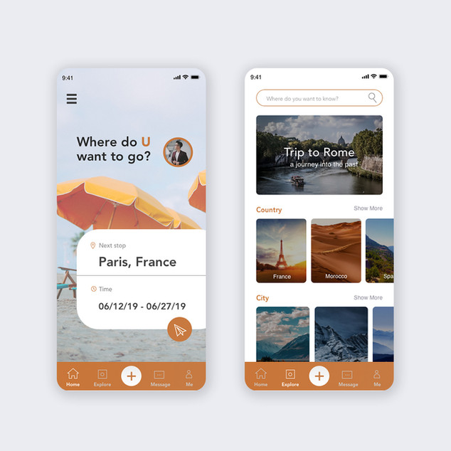 UI design-traveling app
